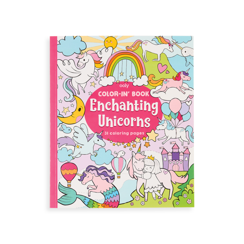 Color-in Book OOLY Enchanting Unicorns